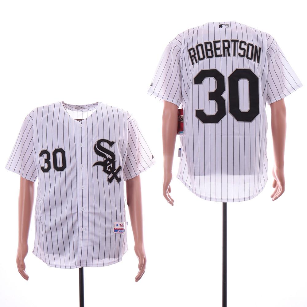 White Sox 30 David Robertson White Cool Base Jersey