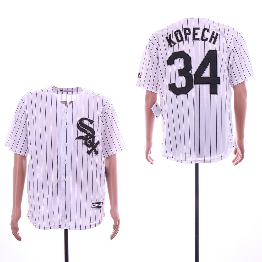 White Sox 34 Michael Kopech White Cool Base Jersey