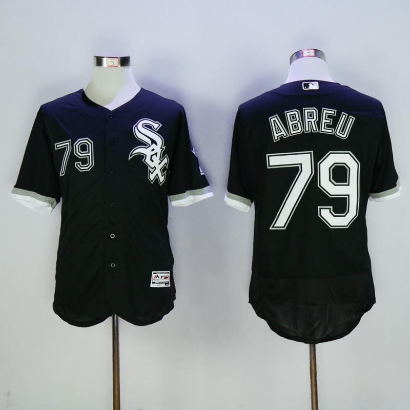 White Sox 79 Jose Abreu Black Flexbase Jersey