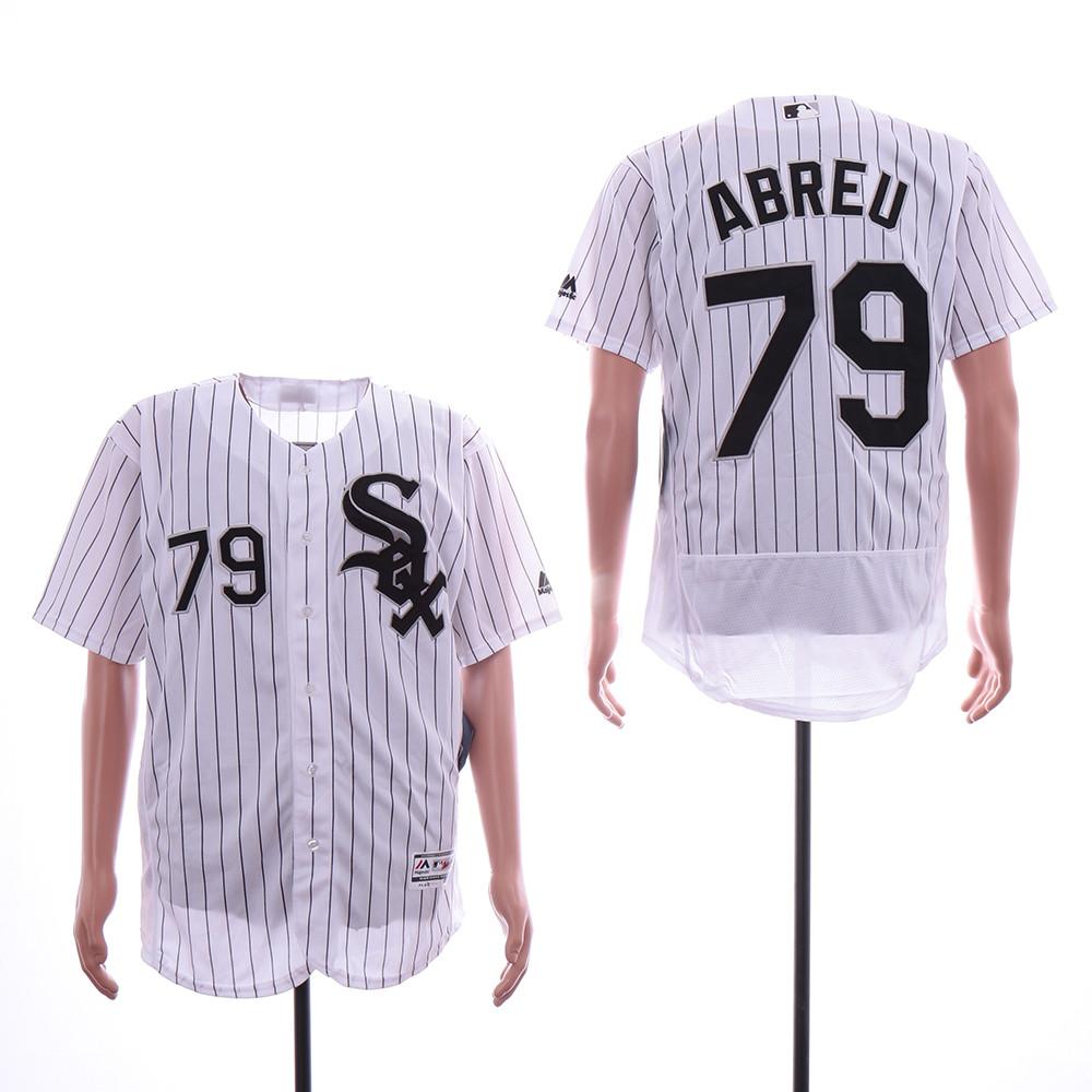 White Sox 79 Jose Abreu White Flexbase Jersey