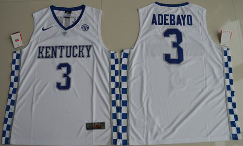 Wildcats #3 Edrice Adebayo White Basketball Elite Stitched NCAA Jersey