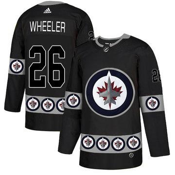Winnipeg Jets 26 Blake Wheeler Black Team Logos Fashion Adidas Jersey