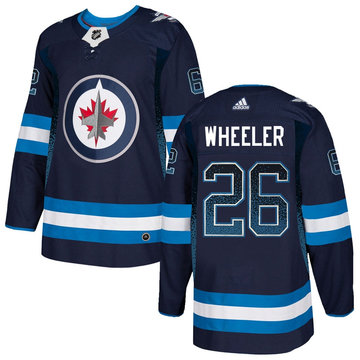 Winnipeg Jets 26 Blake Wheeler Navy Drift Fashion Adidas Jersey