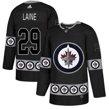 Winnipeg Jets 29 Patrik Laine Black Team Logos Fashion Adidas Jersey