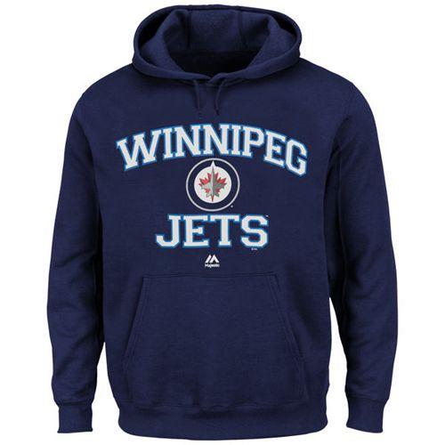 Winnipeg Jets Majestic Heart & Soul Hoodie Navy Blue