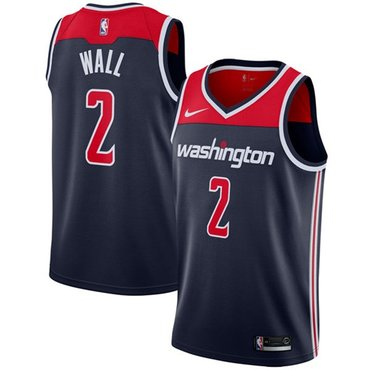 Wizards #2 John Wall Navy Blue NBA Swingman Statement Edition Jersey