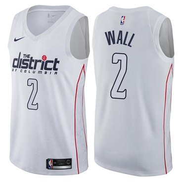 Wizards #2 John Wall White NBA Swingman City Edition Jersey