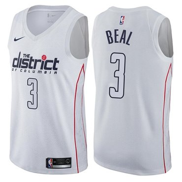 Wizards #3 Bradley Beal White NBA Swingman City Edition Jersey