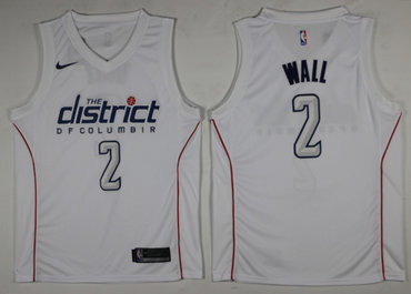 Wizards 2 John Wall White City Edition Nike Swingman Jersey