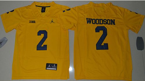 Wolverines #2 Charles Woodson Gold Jordan Brand Stitched Youth NCAA Jersey