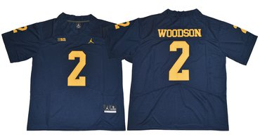 Wolverines #2 Charles Woodson Navy Blue Jordan Brand Limited Stitched NCAA Jersey