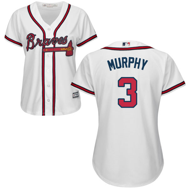 Women's Braves #3 Dale Murphy White Stitched Baseball Jersey