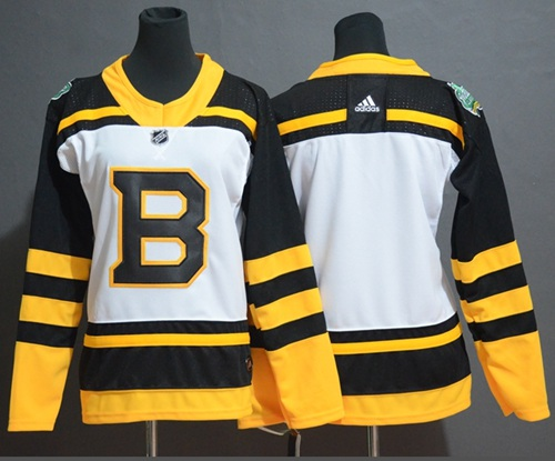 Women's Bruins Blank White Authentic 2019 Winter Classic Women's Stitched Hockey Jersey