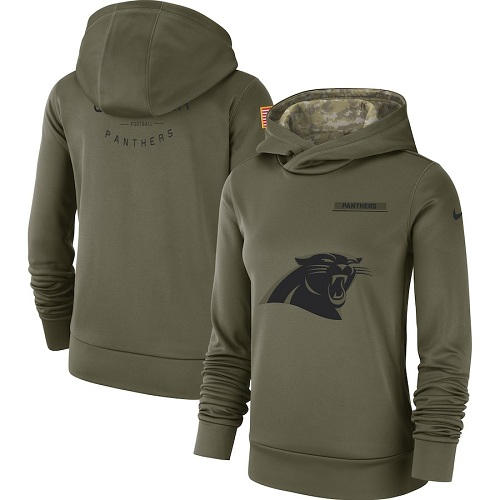 Women's Carolina Panthers Nike Olive Salute to Service Sideline Therma jerseysclub.net Performance Pullover Hoodie