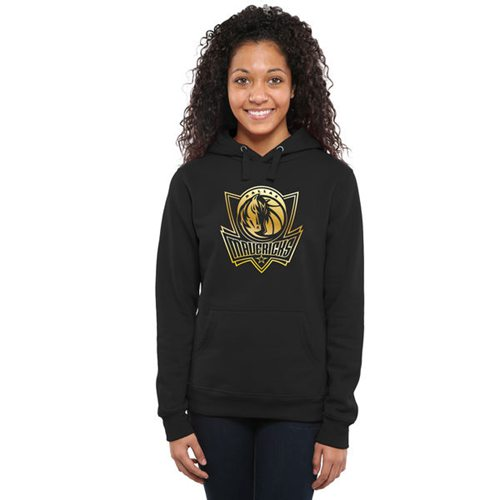 Women's Dallas Mavericks Gold Collection Pullover Hoodie Black