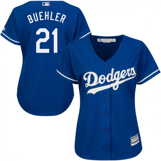 Women's Los Angeles Dodgers #21 Walker Buehler Player Authentic Royal Cool Base Alternate Jersey