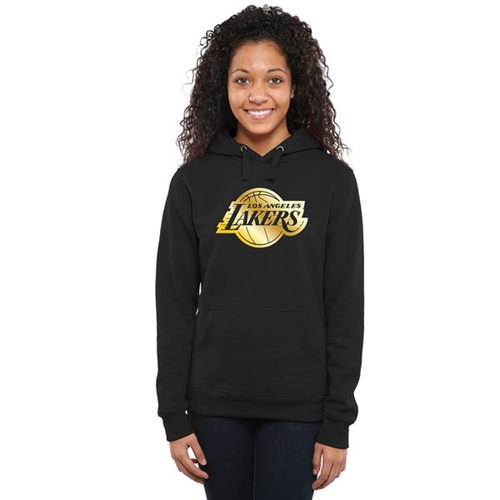 Women's Los Angeles Lakers Gold Collection Pullover Hoodie Black