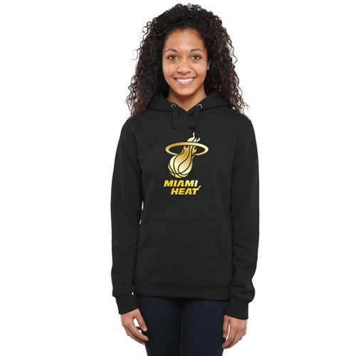 Women's Miami Heat Gold Collection Pullover Hoodie Black