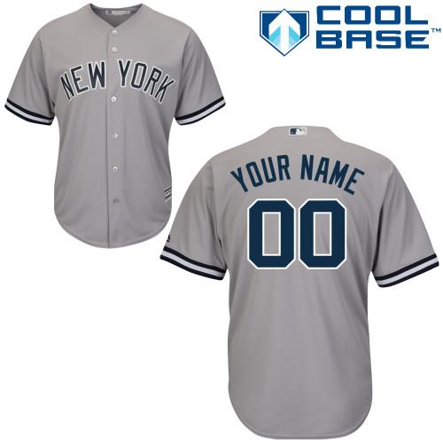 Women's New York Yankees Road Gray Authentic Customized Baseball Jersey