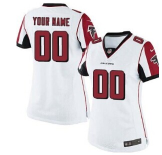 Women's Nike Atlanta Falcons Customized White Jersey