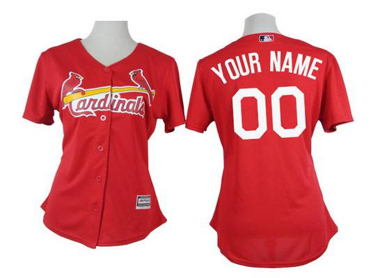 Women's St. Louis Cardinals Customized 2015 Red Jersey