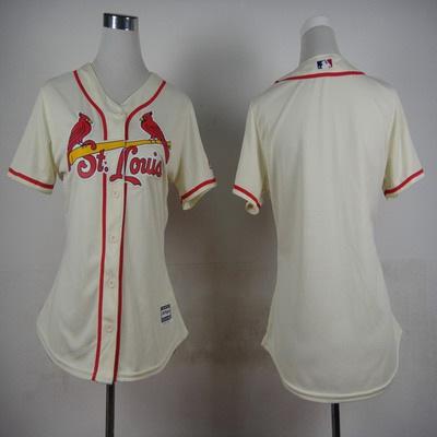 Women's St. Louis Cardinals Customized Cream Jersey