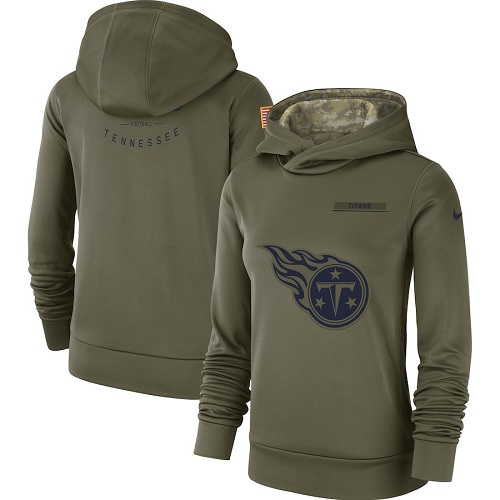 Women's Tennessee Titans Nike Olive Salute to Service Sideline Therma jerseysclub.net Performance Pullover Hoodie