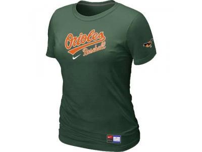 Women Baltimore Orioles NEW D.Green Short Sleeve Practice T-Shirt