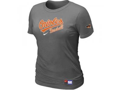 Women Baltimore Orioles NEW D.Grey Short Sleeve Practice T-Shirt