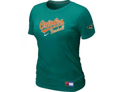 Women Baltimore Orioles NEW L.Green Short Sleeve Practice T-Shirt