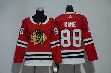 Women Blackhawks 88 Patrick Kane Red Women Adidas Jersey