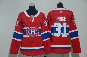 Women Canadiens 31 Carey Price Red Women Adidas Jersey