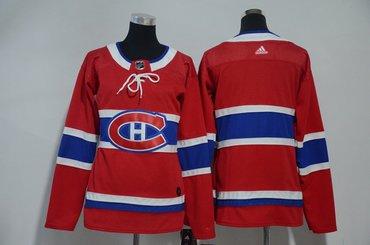 Women Canadiens Blank Red Women Adidas Jersey