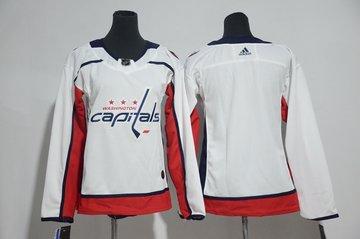 Women Capitals Blank White Women Adidas Jersey