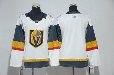 Women Custom Vegas Golden Knights Blank White Jersey