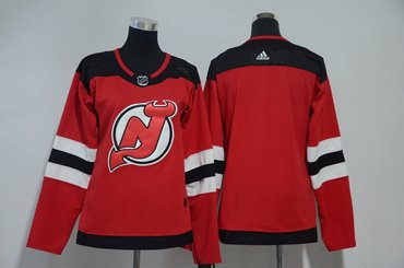 Women Devils Blank Red Women Adidas Jersey
