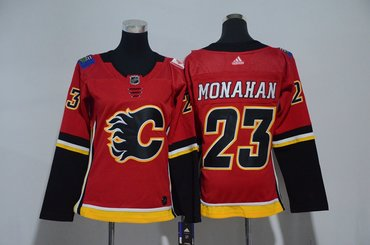 Women Flames 23 Sean Monahan Red Women Adidas Jersey