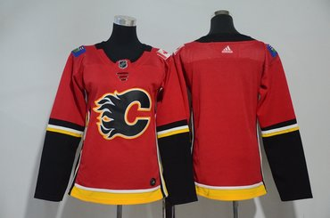 Women Flames Blank Red Women Adidas Jersey