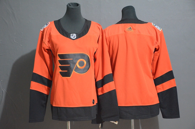 Women Flyers Blank Orange Women 2019 NHL Stadium Series Adidas Jersey