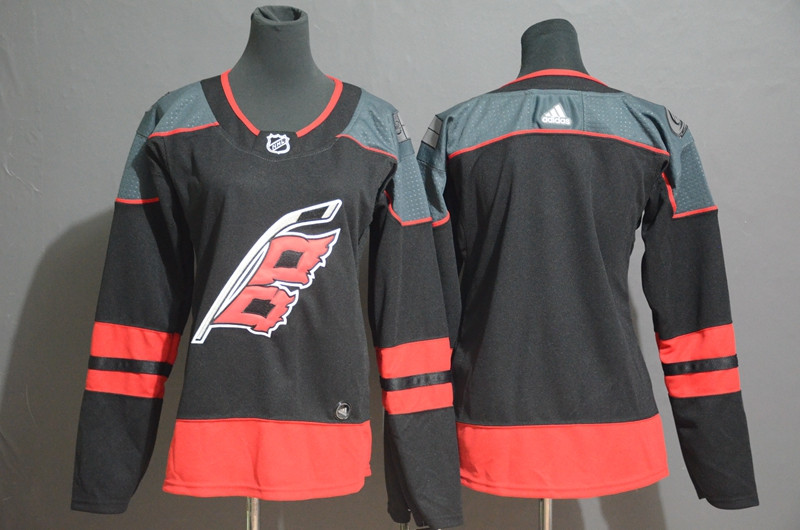 Women Hurricanes Blank Black Women Adidas Jersey