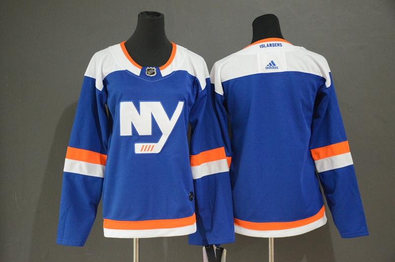 Women Islanders Blank Blue Women Alternate Breakaway Adidas Jersey