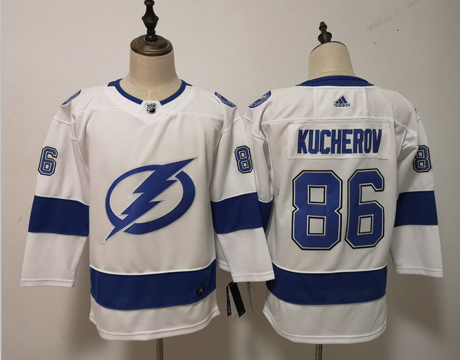 Women Lightning 86 Nikita Kucherov White Women Adidas Jersey
