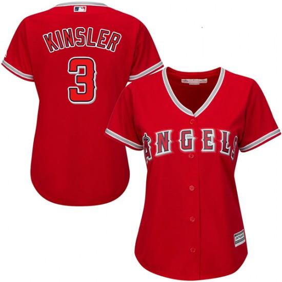 Women Los Angeles Angels #3 Ian Kinsler Red Jersey