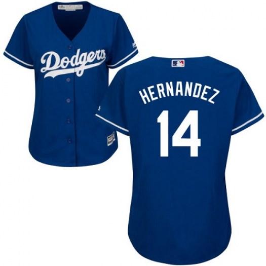 Women Los Angeles Dodgers #14 Enrique Hernandez Blue Stitched MLB Jersey