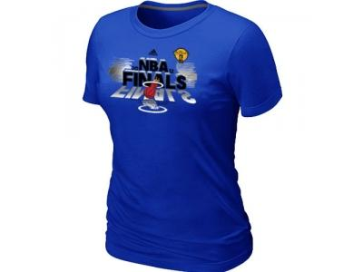 Women Miami Heat adidas 2012 Eastern Conference Champions Blue T-Shirt