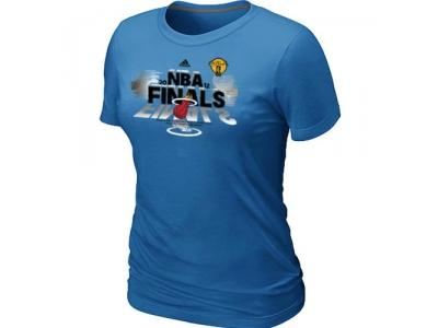 Women Miami Heat adidas 2012 Eastern Conference Champions L.blue T-Shirt