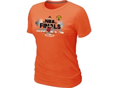 Women Miami Heat adidas 2012 Eastern Conference Champions Orange T-Shirt
