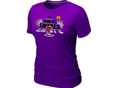 Women Miami Heat adidas 2012 Eastern Conference Champions Purple T-Shirt