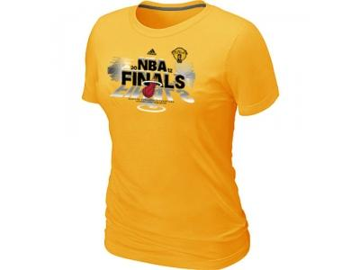 Women Miami Heat adidas 2012 Eastern Conference Champions Yellow T-Shirt