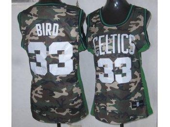 Women NBA Boston Celtics #33 Bird camo